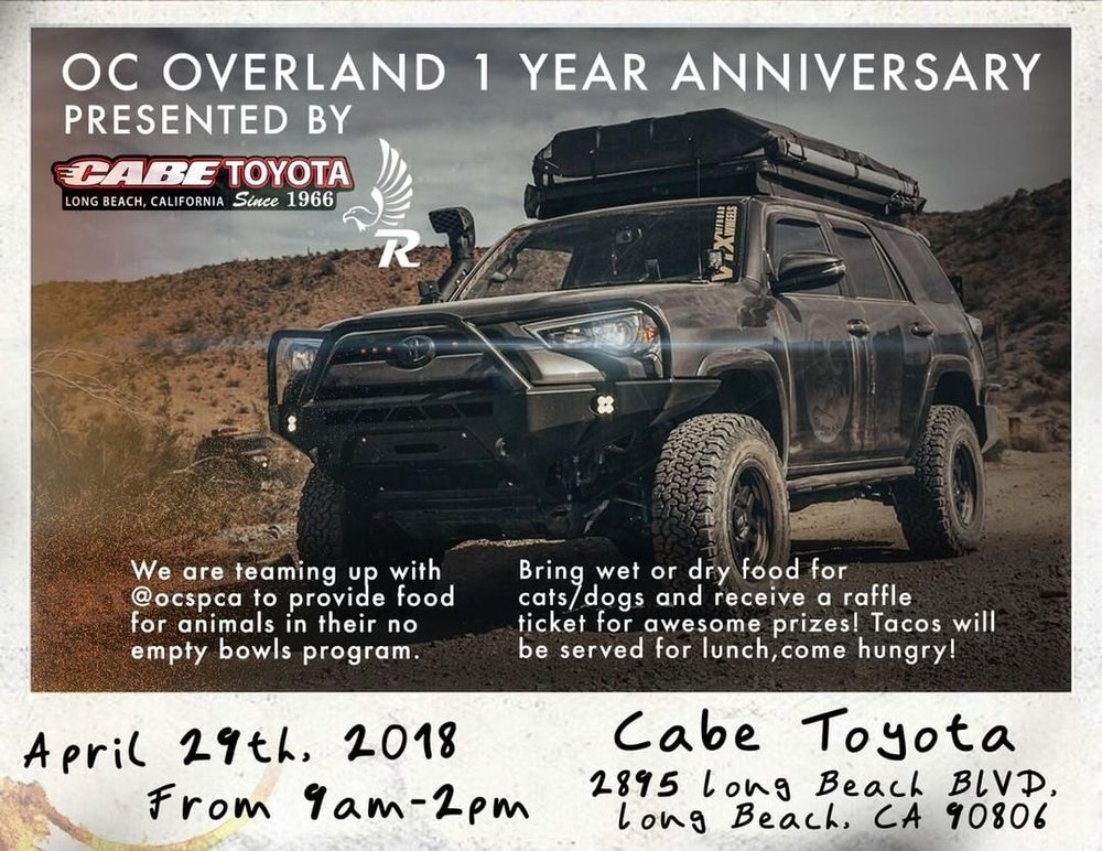 Our 1 Year Anniversary Will Be Held At Long Beach Cabe Toyota!  @cabeperformance On 4/29 From 9AM 2PM (Address On Flyer) Everyone Is  Welcome, Doesnu0027t Matter ...