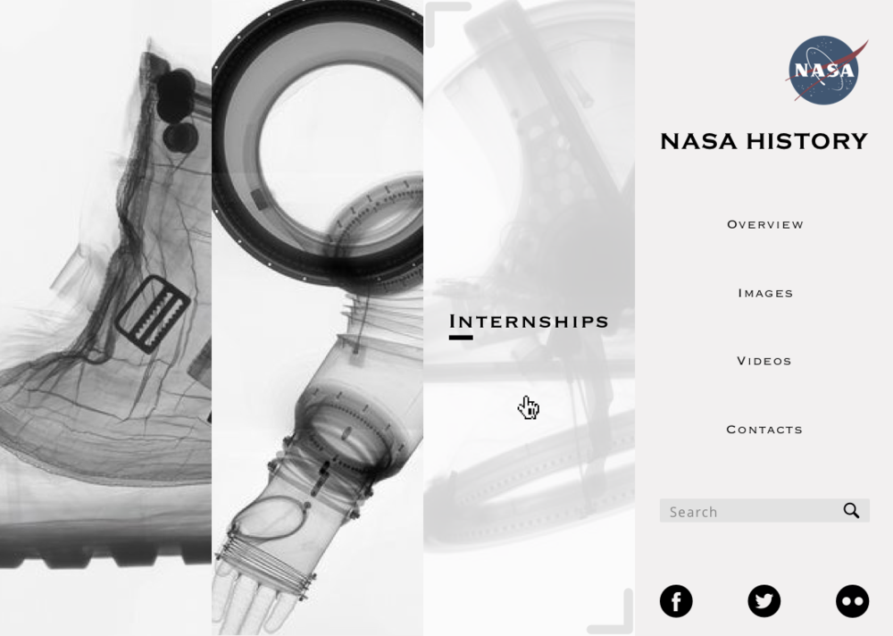 Landing page Redesign of  NASA History