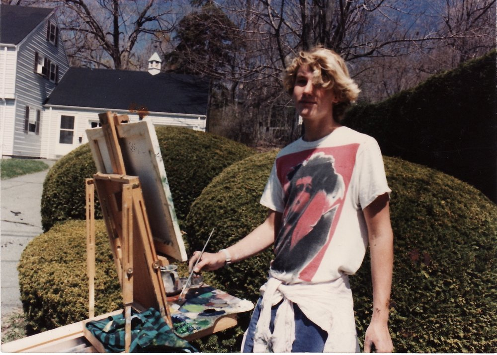 1989 - This was maybe my fifth time out painting in the world.