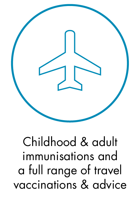 Childhood & adult immunisations and a full range of travel vaccinations & advice