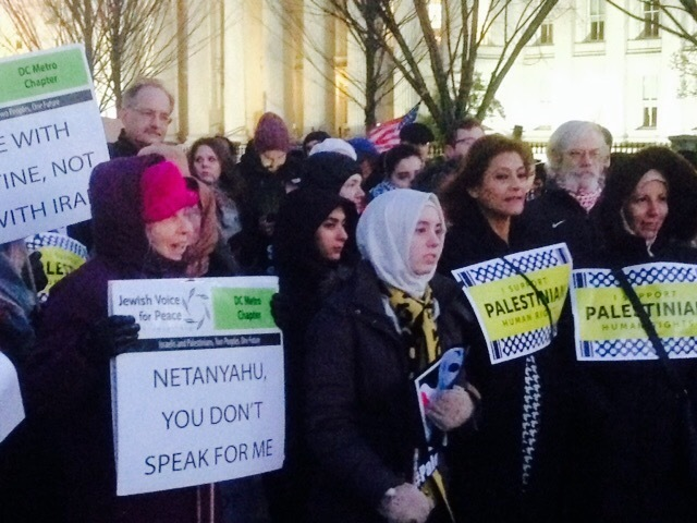 Protesters outside the White House Wednesday