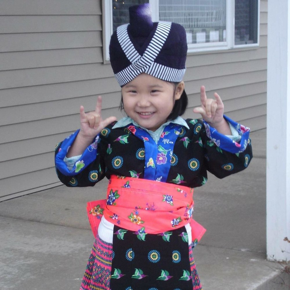Hnub's daughter during Hmong New Year
