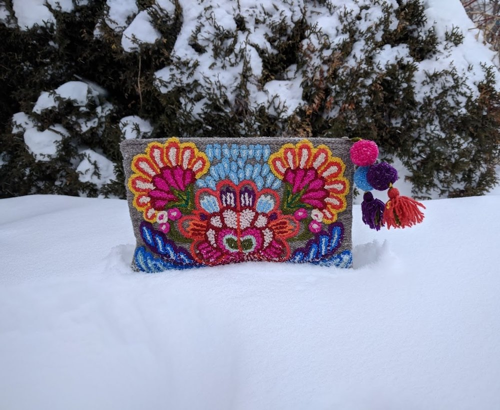 Fair trade Wildflower Clutch from Peru
