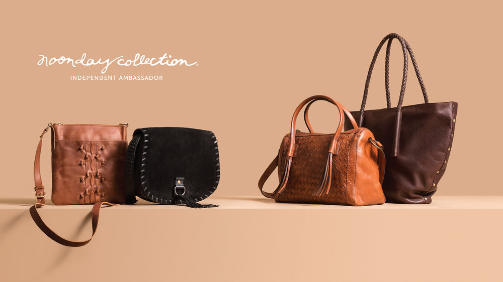 How to keep your purse organized. Pictured: Noonday Collection's fair trade leather bags