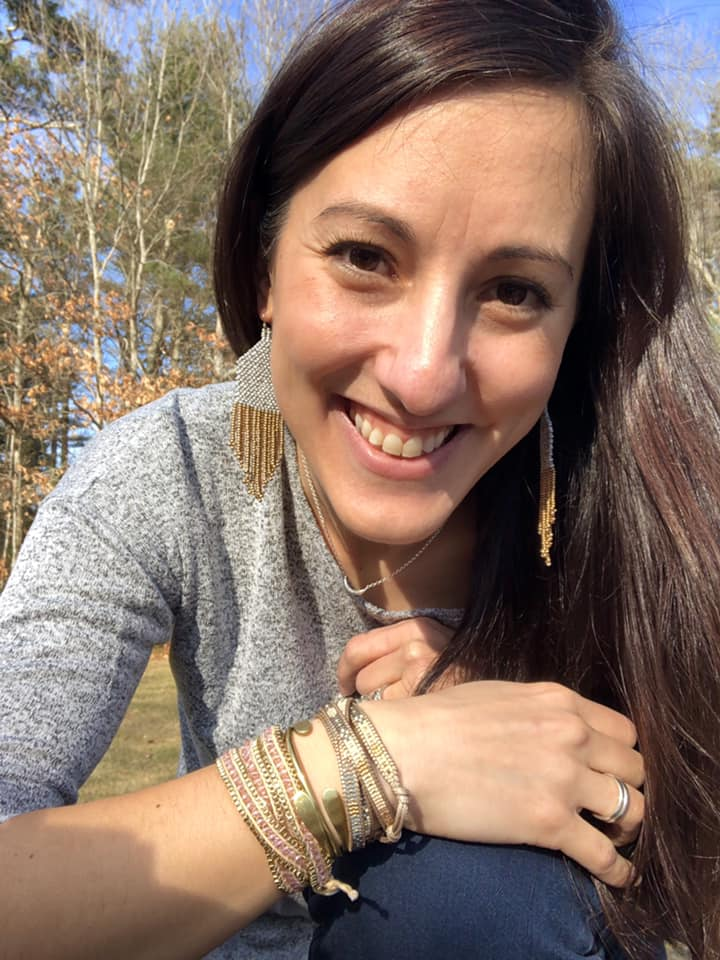Janelle Murphy is rocking an arm party too: with the Azores Earrings, she styled the delicate Silver Crescent Necklace and stacked up her Sofiya Wrap, Bonfire Wrap, and gold Constant Cuffs for a statement on the wrist.