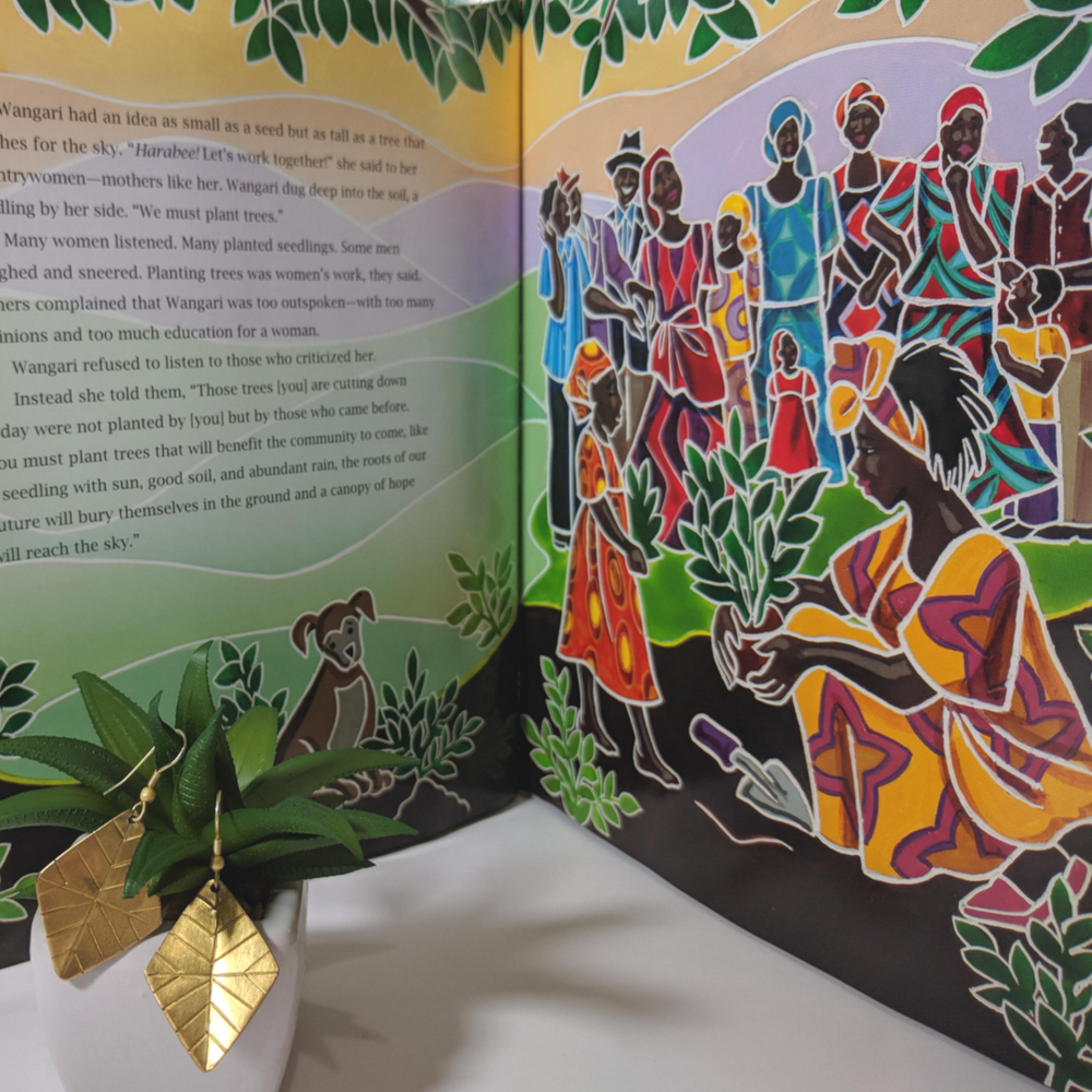 Diverse children's books that connect kids to countries around the globe, featuring Noonday Collection's partner countries. Pictured: Seeds of Change, a story about Wangari Maathai in Kenya. #noondayambassador #childrenslit #kidslit #diversebooks