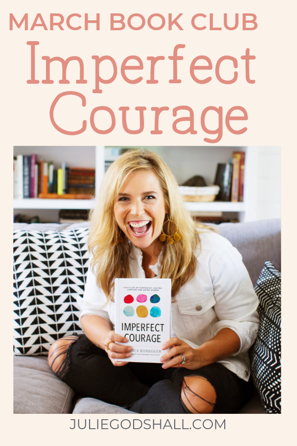 Could you use a dose of courage to show up to the life of impact you know you're meant for? Join the book club for Jessica Honegger's Imperfect Courage, with Noonday Collection Ambassador Julie Godhall. Endorsed by Brene Brown, this book will help you start with self-love, find the people who can support you, and step into your story. Great for entrepreneurs or anyone looking for greater impact. #bookclub #noondayambassador #noondaycollection #imperfectcourage