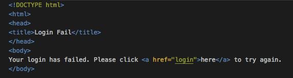 login fail page
