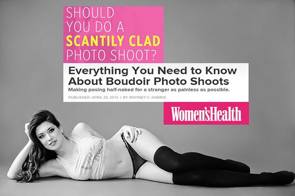 Women's Health Magazine Article - Michelle Hayes Studio Boudoir Photography