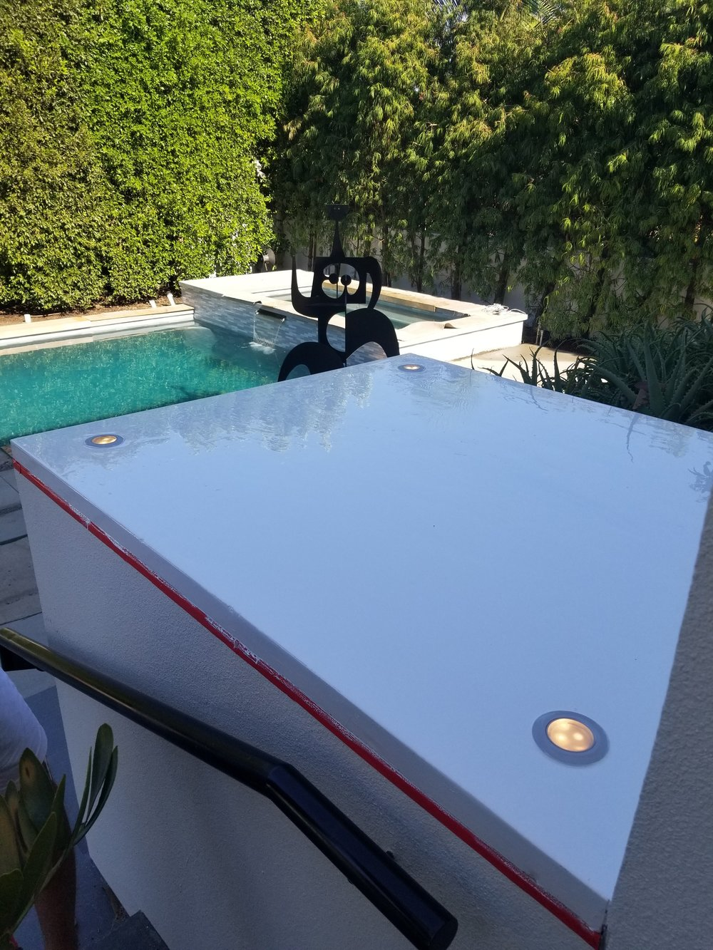 Epoxy Wall Cap @ Beverly Hills, CA