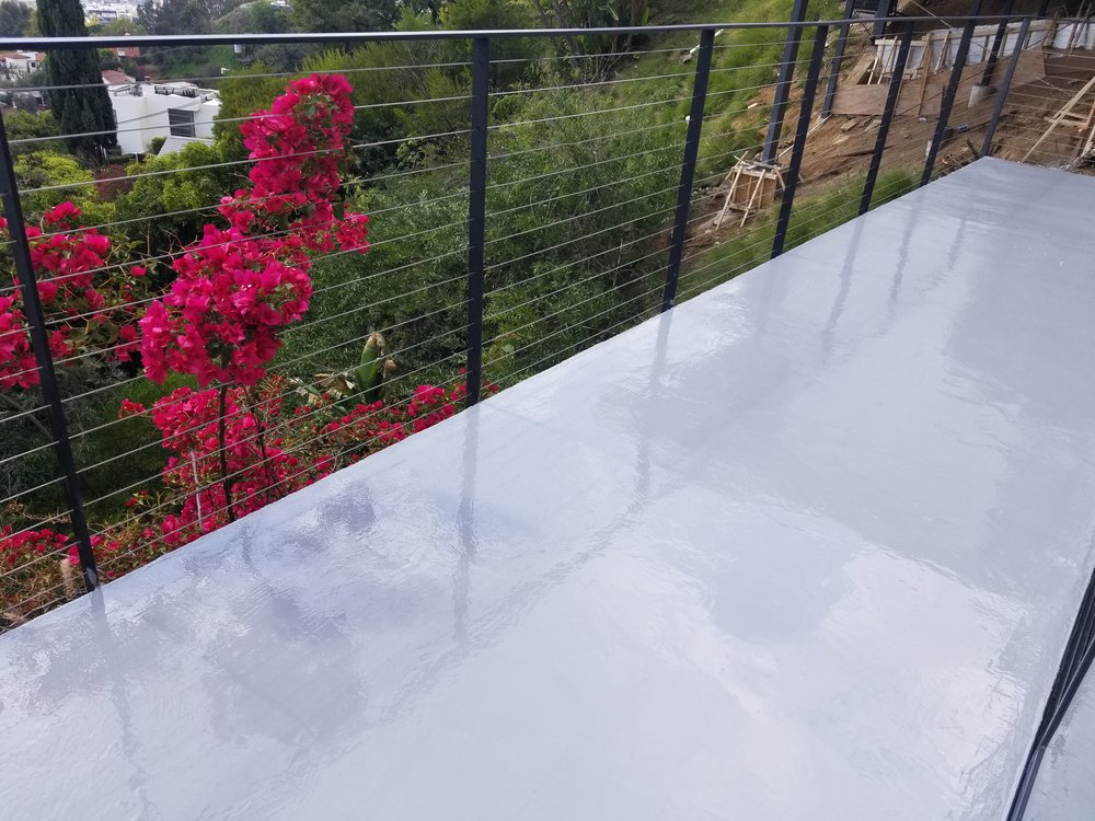 Gray Epoxy Balcony @ Hollywood Hills, CA