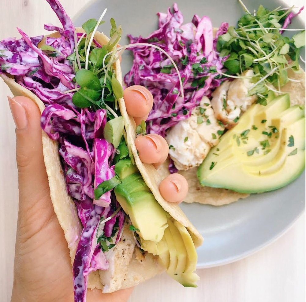 CLEANSE-FRIENDLY FISH TACOS