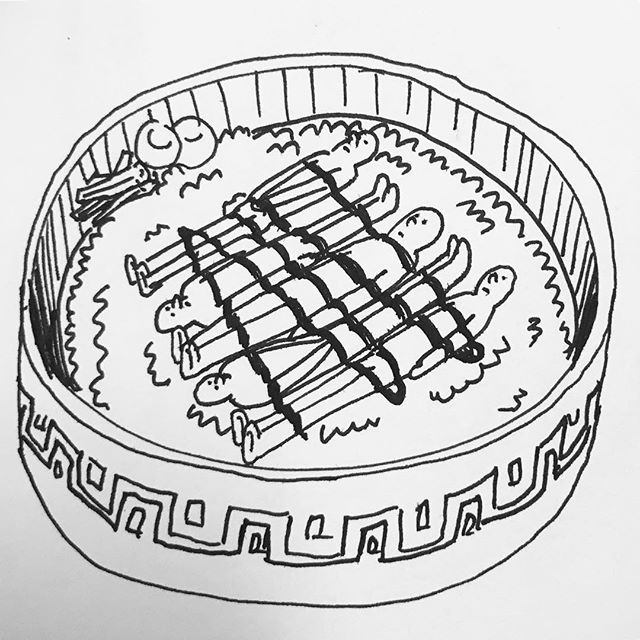 #sketching #doodling #drawing #ink #illustration #quick #스케치#그림 #잉크 #그림을그리자 #오섭 #BUSO #OSUB #배고파 #hungry #donburi #japanese