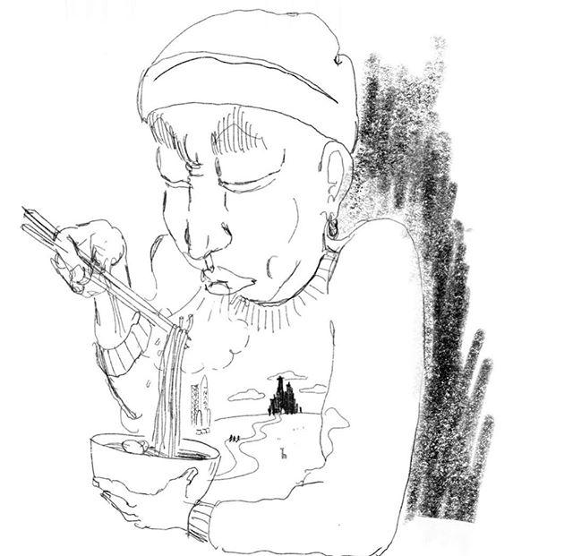 #sketching #doodling #drawing #ink #illustration #quick #스케치#그림 #잉크 #그림을그리자 #오섭 #BUSO #OSUB #monday #panic #hunger #noodle #noodledoodle #doodle #doobidoobab