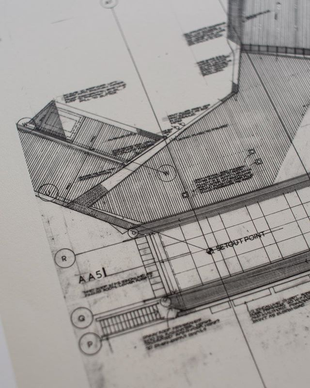 Moonlight Head Hotel, Moonlight Head, Victoria, 2000- Roof plan of the head of the building. . . . . . . . . #glennmurcutt #glennmurcuttmasterclass #architecture #architecturelovers #australianarchitecture #archidaily #design #designinspiration #book #glennmurcuttfolio #touchtheearthlightly #architect #book #sydneylocal #architecturebooks #australiandesign #architecturaldrawing #architecturalplan #moonlightheadhotel