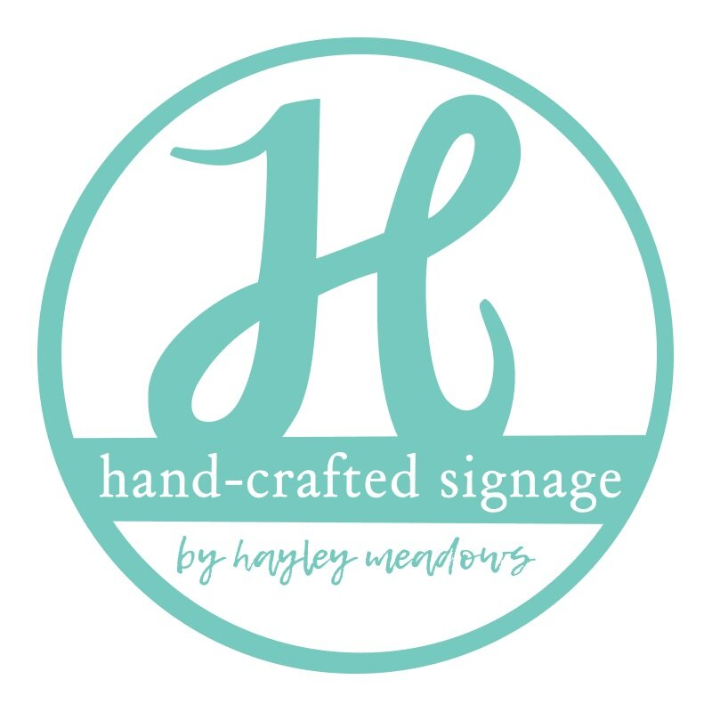 Hand-Crafted Signage by Hayley Meadows