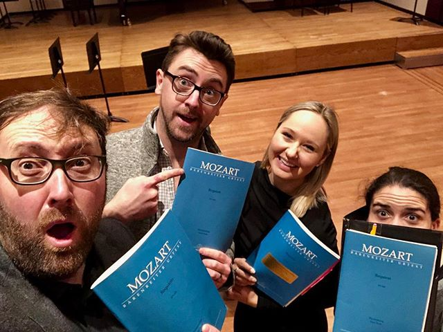 First day of rehearsals with the @nyphilharmonic We are all prepared with our @baerenreiter scores! 