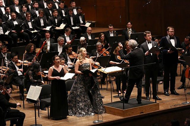 """""""The four soloists each had distinctive qualities — standouts were.. Megan Mikailovna Samarin, making her Philharmonic debut with a penetrating mezzo-soprano — yet they blended with impressive grace."""" - Joshua Barone, The New York Times"""