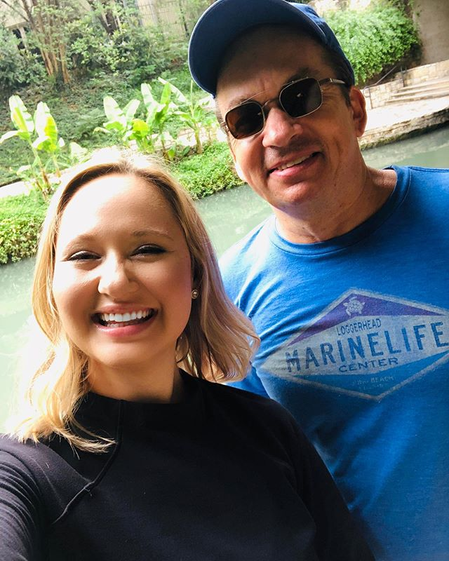 Found Maestro Tweten on the River Walk! He is absolutely amazing and we all looooove working with him. Thanks for making us all sound great! Check out our stories for more on my day.