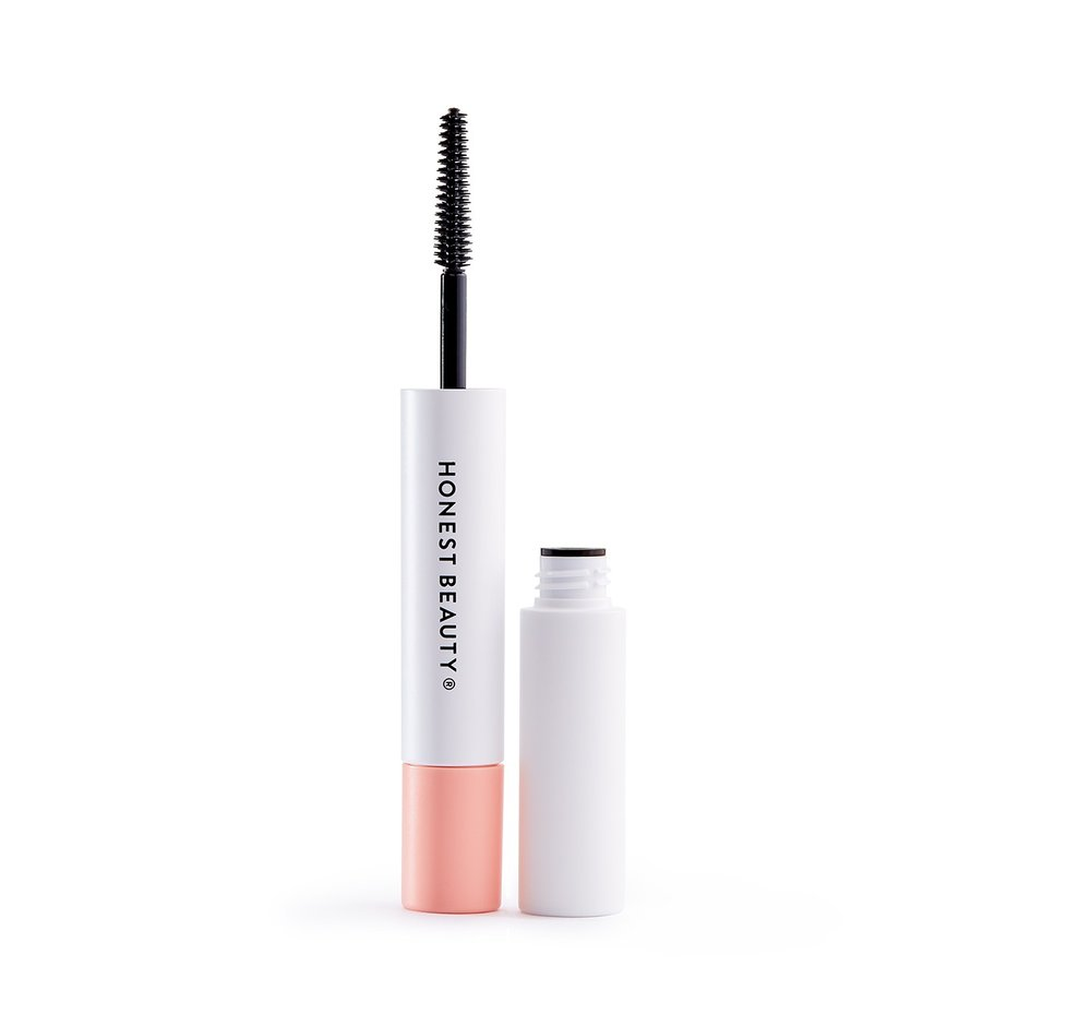 mascara - Honest Beauty's extreme length mascara + primer. A reasonably priced 2-in1 product that builds up nicely for great volume.