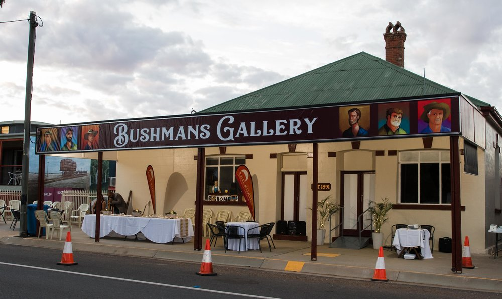 Bushmans Gallery in the Bushmans Hotel, Blackall