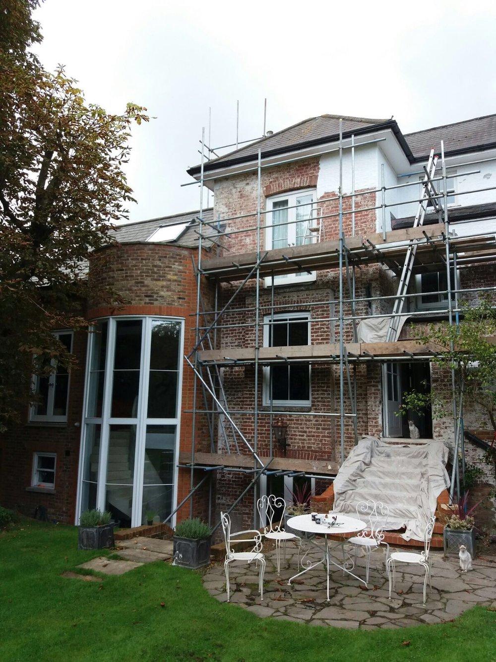 Exterior Repairs & Decorating - During