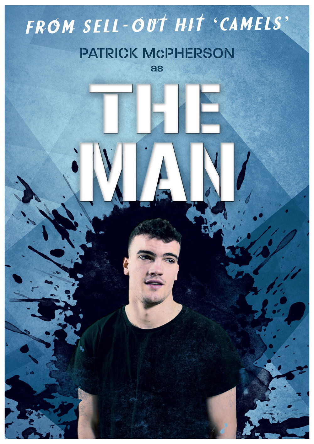 THE MAN - The team from Camels is back with a brand new show..Tristan Bates Theatre 11.03.2019Starring:Patrick McPhersonDirectors: James Lane and Matt JonesProducer: Zac PeelPhotography: Danté KimGraphics: James Lane