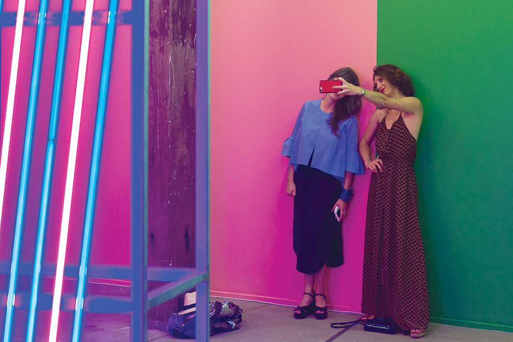 Superposition of three types, 2017, launch, Artspace, Sydney. Photo: Jessica Maurer.