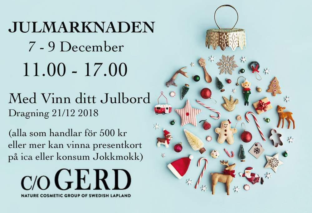 c/o GERD - Julmarknadsöppet, 11.00–17.00.