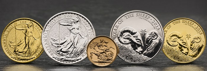 The Royal Mint 2015 Bullion Coins