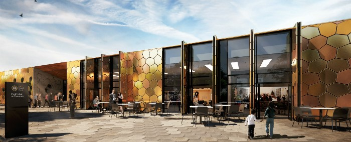 An artist's impression of the proposed Royal Mint Visitor Centre