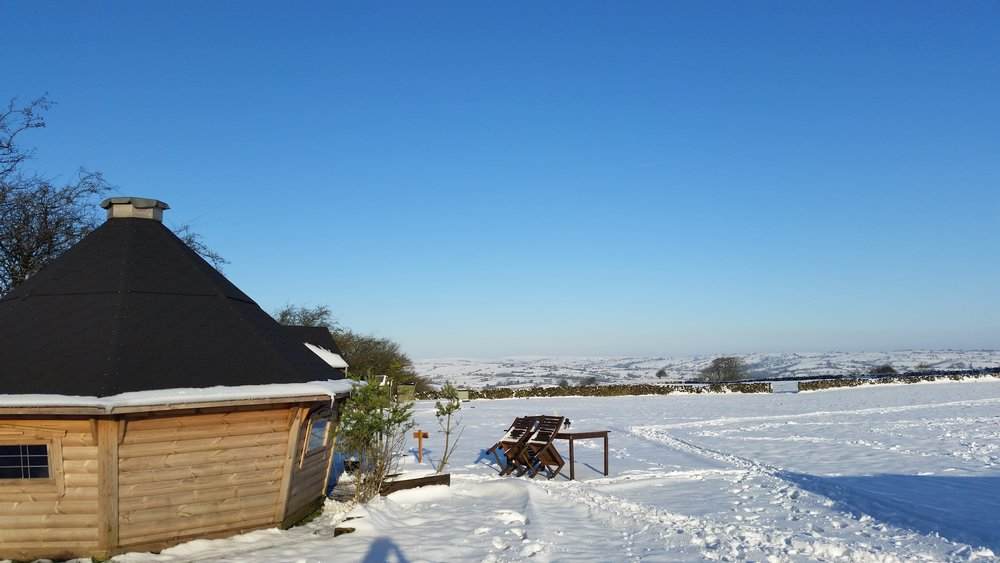 luxury yurts in Derbyshire