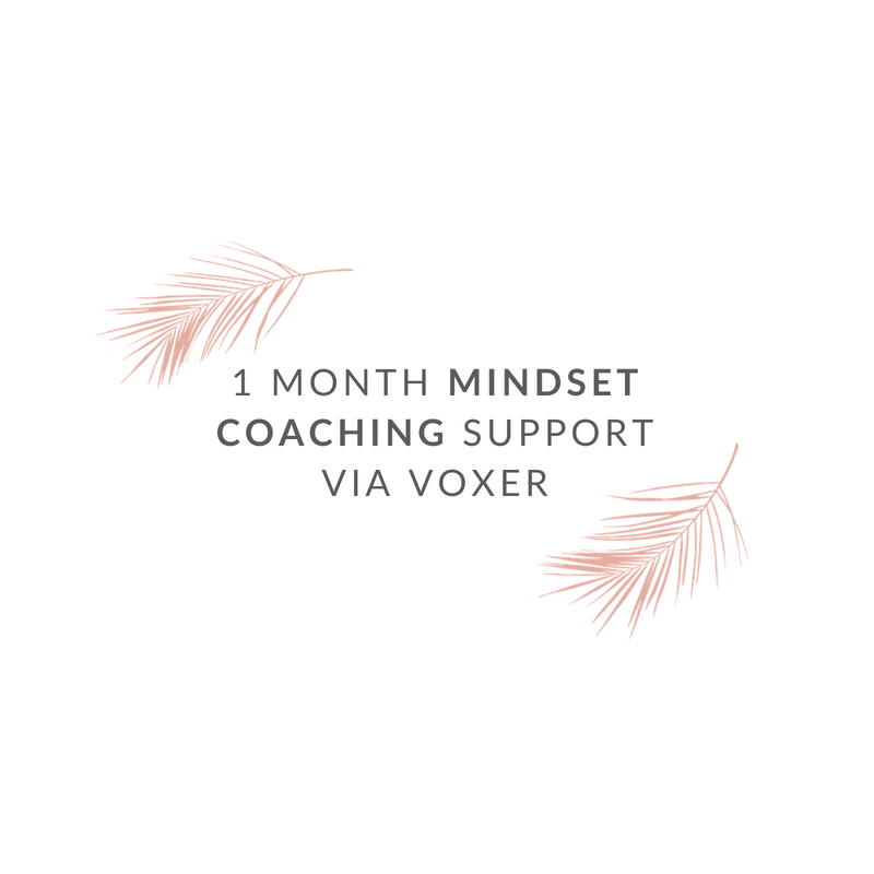 1 Month of Mindset Coaching Support via Voxer