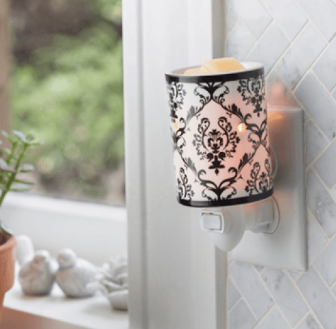damask plug in fregrance warmer laurel mountain candles