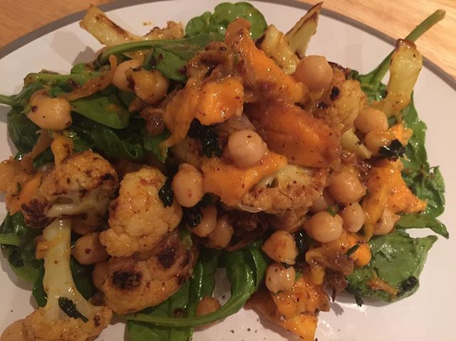 Loved this creation - quite a lot of ingredients but so worth it. Curried chickpea and mango salad. Will be making again @ottolenghi  #dinner #salad #curry #cauliflower #cookingathome #foodlover #foodpics #food #homecooking #tasty #instagood #foodography #yum #lovefood #f52grams #food52 #instafood #delish #instafoodie #feedmefeedme #londonblogger #foodblogger #blogger #instadaily #dailyinsta #dailyfoodfeed #foodphotography #dailyfood #dailypic #dailyinspiration