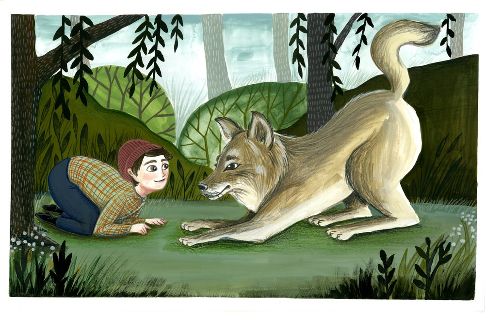 A boy and his wolf