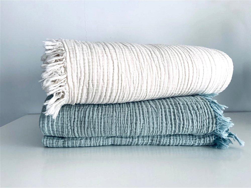 Ultra Cozy Cotton Gauze Blanket