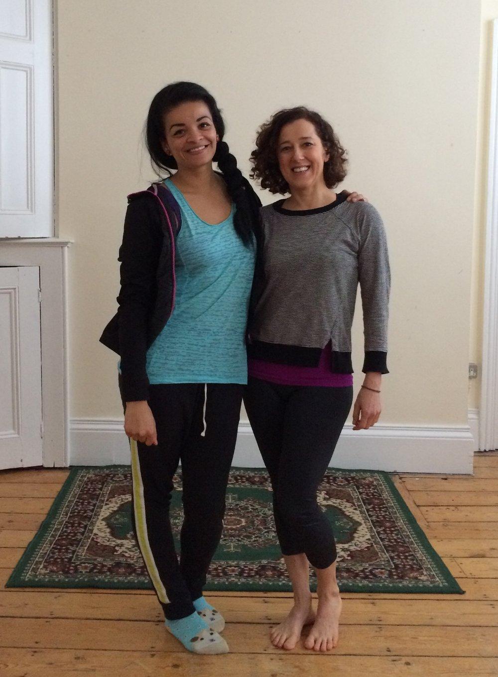 Natalie  @zumbanatalieuk and Rachel @onbeing_adopted