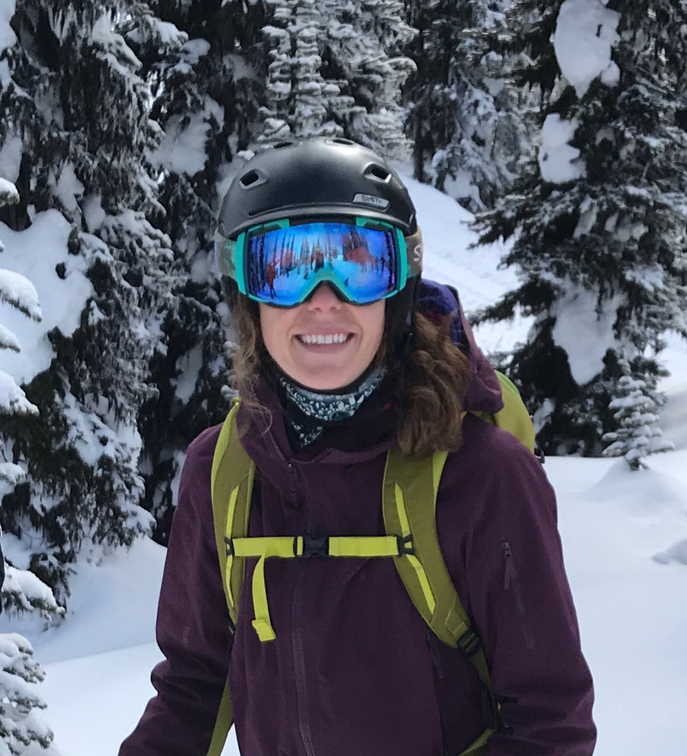 Rachel Sloan   Rachel grew up ski racing in the Okanagan. The transition from spandex to ski pants lead her to Revelstoke. She has been ski patrolling for four years at Revelstoke Mountain Resort and loves being a part of the Girls Do Ski community.