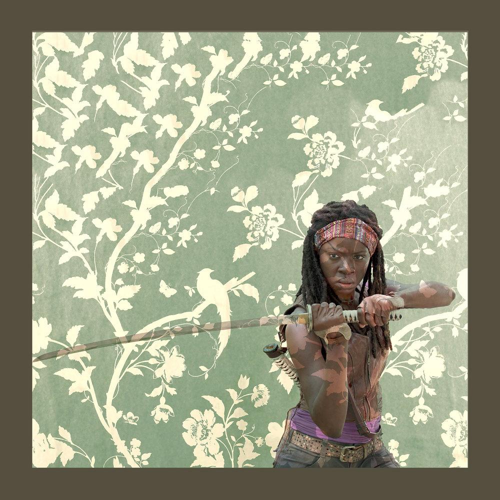 Sqaure Michonne on Green .jpg