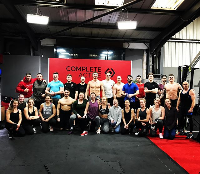 Another amazing team workout this morning @complete_active! Great to have some new faces to CrossFit who got thrown straight into the deep end and came out smiling!  What a Team!!! . . . . . . . @crossfit @roguefitness #crossfit #team  #wod  #teamwod #fitness #fun #getitdone #strength #friends #motivation #beachbody #olympiclifting