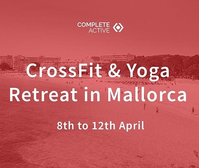 Join Complete Active on our fitness trip to Majorca!  Ever wanted to travel with liked minded people, keep fit, better your skills in CrossFit then relax afterwards in an incredible spa and recover with yoga overlooking the most incredible views?  If this is something you'd like to be apart of then get in touch and book now!  What's included: - Flights from Gatwick - luxury sea view shared Apartments with bed and breakfast for 2 people - all transfers / car hire abroad - excursions including Boat cruise / mountain treks - 5 days of in depth private CrossFit classes at Majorca's top boxes - Daily roof top Yoga with our own private instructor - access to the resorts luxury Spa. - eat out at some the islands nicest restaurants (billed separately)  5 days of fitness and paradise for all abilities for only £1,400!!! To find out more or book please email us at hello@completeactive.com  Only a few spots left! Book now . . @crossfit @bodybuildingcom @gymshark @roguefitness @rogueeurope #beachbody #fitness #olympiclifting #unitedkingdom #coach #training #wod #barbell #beaches #teamwod #hstlmade #beavisionary #concept2 @nocco #crossfit #yoga @k_g_yoga #relax #retreat #spa #views #strength #power #holiday #getaway