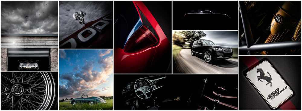 automotive photography by reflect light