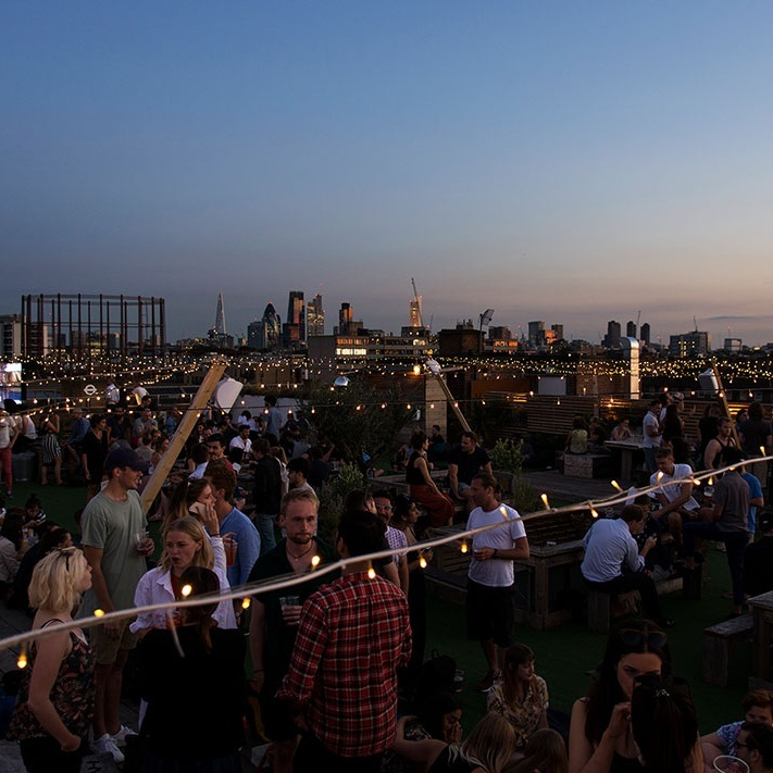 EAST:NETIL 360 - Other than the sheer amount of bearded and hatted hipsters that congregate here every summer night, this is our favourite party rooftop. Laidback and super chilled, there's a ton of craft beers on offer and they often do summer screenings. We recommend dropping by on a Saturday afternoon, post Broadway Market browse for a spritz and dance.1 Westgate Street, E8 3RL. Nearest station is London Fields.