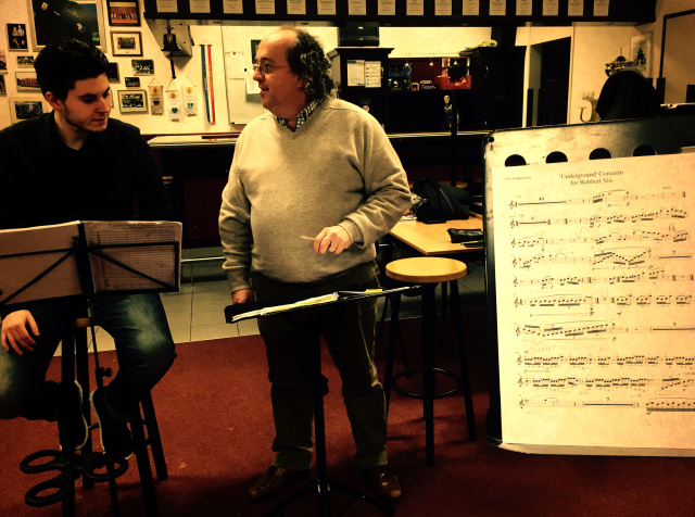 In rehearsal with Ivan Meylemans.