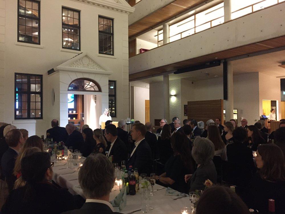 Statssekretær Frida Blomgren, Kulturdepartementet, hilser foreningen.