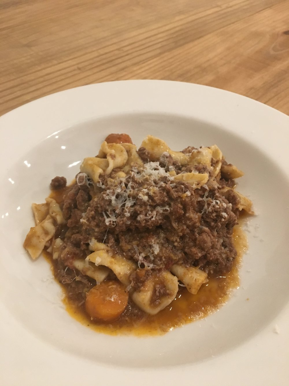 FOURTH COURSE: LAMB BOLOGNESE SAUCE WITH FRESH PASTA