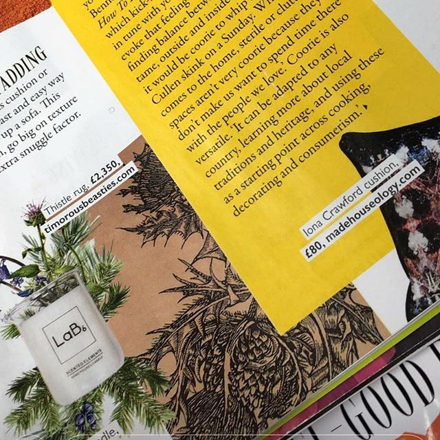 It's been a busy start to the year which is why we've been a little absent. Organising new photography, testing a brand new size of candle and preparing to update the website. In the meantime, we were thrilled to see the feature on the #artofcoorie and our #cairngorm candle in last week's @graziauk. In the meantime, have a great weekend and we'll be back with more news soon. Thanks @loismummy for sending us a copy 🙌🏻 #happysaturday #saturdayvibes #graziauk #feature #handmadecandles #handpoured #madeinscotland #scottishstyle #artofcorrie #coorie