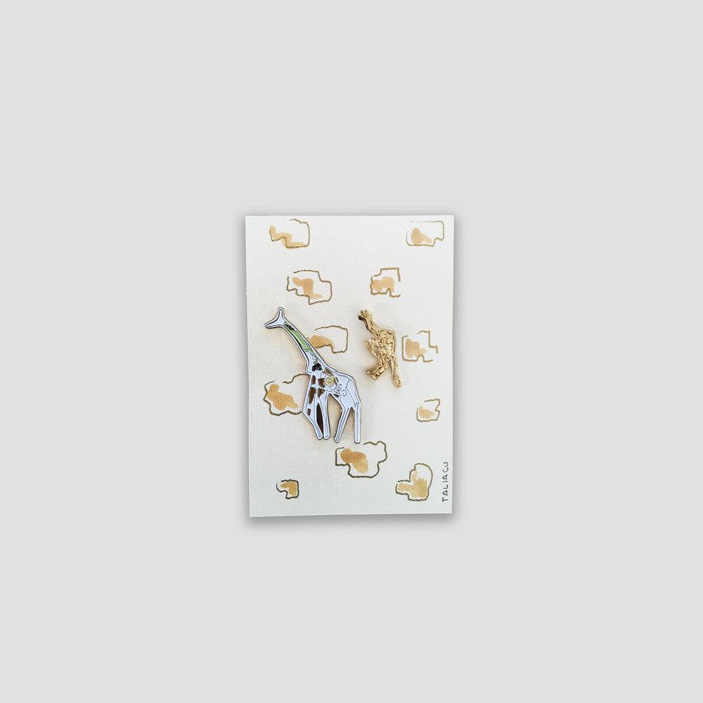 Giraffes   Large giraffe: 5 x 2.3 cm  Small giraffe: 3 x 1.2 cm   Price:   $ 280.00 MXN  $ 13.50 USD