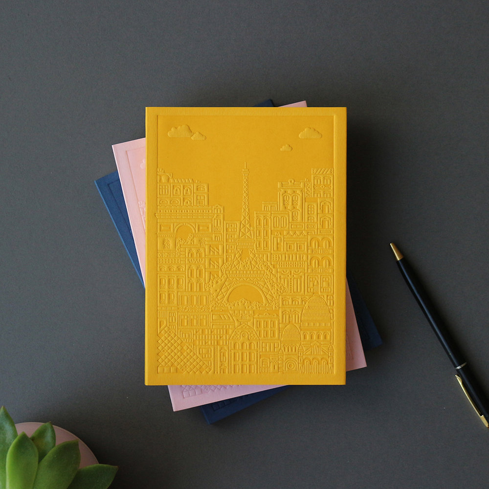 Paris Debossed Notebooks by The City Works.jpg